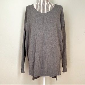 Dreamers Oversized V-Neck Sweater Grey M